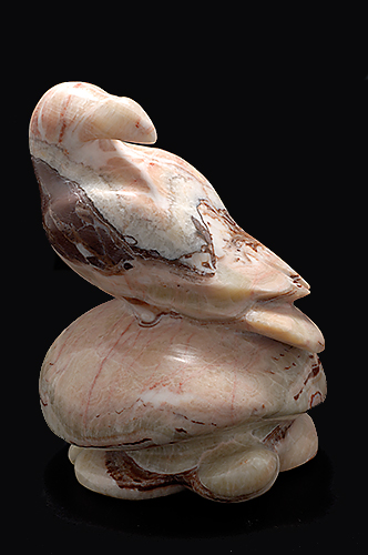Bird on a Turtle, Roland Nicolas, Gaspesian Marble